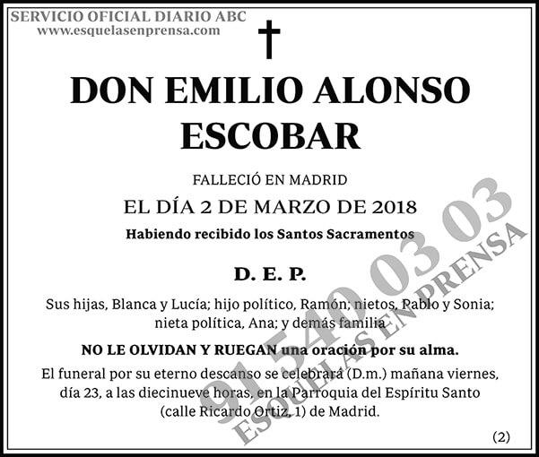 Emilio Alonso Escobar
